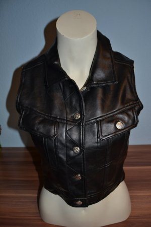 Leather Vest black