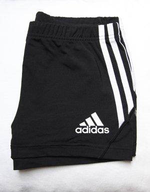 Adidas Sport Shorts black-white mixture fibre