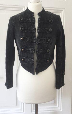 Schwarze Kurzjacke aus Jeansstoff