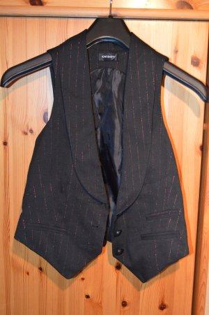 schwarze Kurzweste Dandy-Style zum Knöpfen