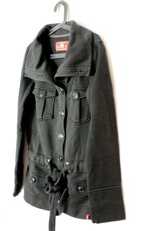Schwarze kuschelige Baumwolljacke von Esprit, 38