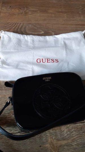 schwarze Lack Guess Tasche