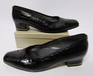 ara Loafers black-gold-colored leather