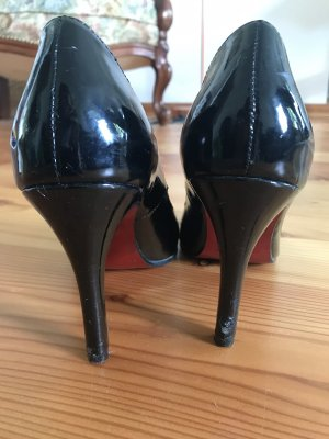 coco-california Pointed Toe Pumps black-red