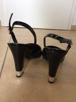 Schwarze Lack-Pumps von Geox Respira, Gr. 39