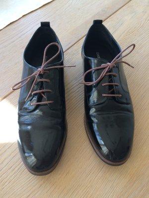Schwarze Lack - Schnürschuhe von Graceland