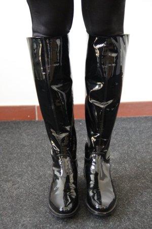 schwarze Lack-Stiefel von Unützer