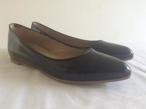 Alberto Fermani Ballerinas with Toecap black leather