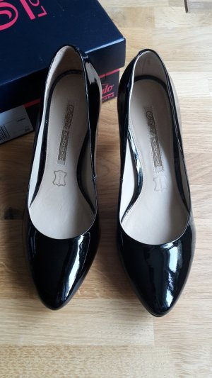 Schwarze Lackleder Pumps Buffalo