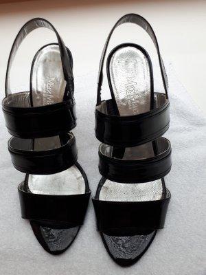 Schwarze Lacksandale von Max Mara