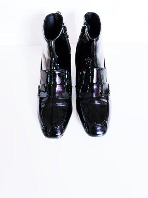 Schwarze Lackschuhe Ankle Boots von H&M