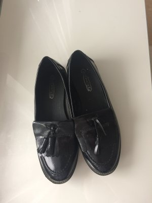 Patent Leather Ballerinas black imitation leather