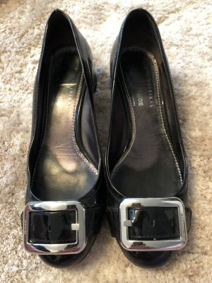 Car Shoe Patent Leather Ballerinas black