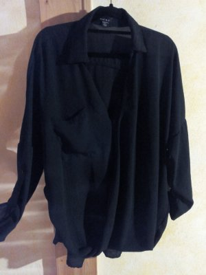 Schwarze Langarm Bluse M/L
