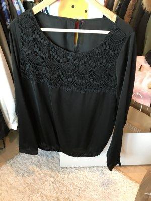 Schwarze Langarm- Bluse Tom Tailor