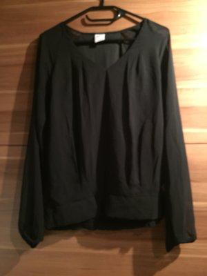 schwarze Langarm-Bluse von VERO MODA