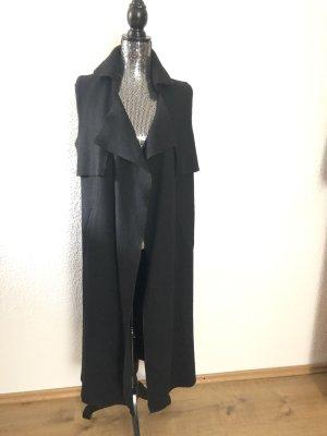 Zara Gilet long tricoté noir