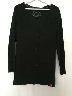 Schwarze lange Strickjacke von Esprit