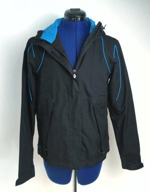 Erima Sportjack zwart-lichtblauw