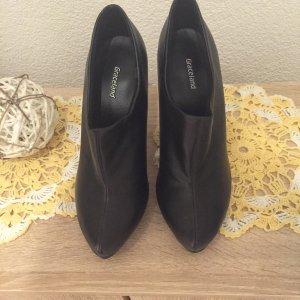 Schwarze Leder-Boots