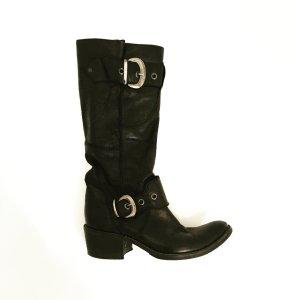 schwarze leder boots von vero cuioio