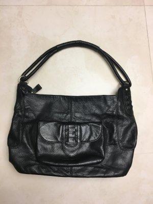 Schwarze Leder Handtasche von René Lazard