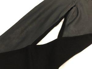Schwarze Leder Leggings