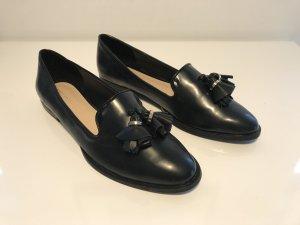 Schwarze Leder Loafers
