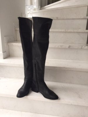 Hallhuber Cuissarde noir cuir