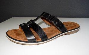 Tamaris Strapped Sandals black-cognac-coloured leather