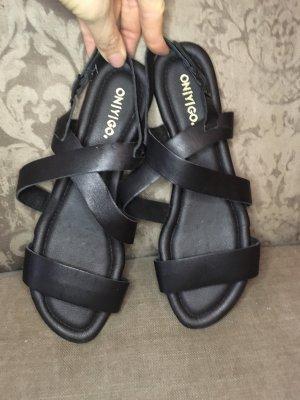 Schwarze Leder Sandalen von Onygo Gr.40