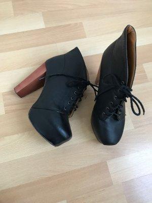 Schwarze Leder Schuhe