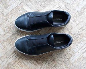 Schwarze Leder Sneaker