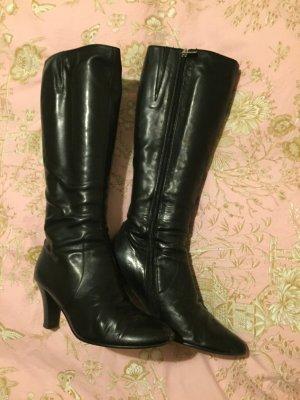 Schwarze Leder Stiefel gr 39