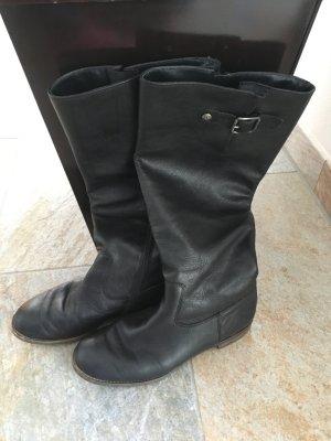 Schwarze Leder Stiefel von Paul Green