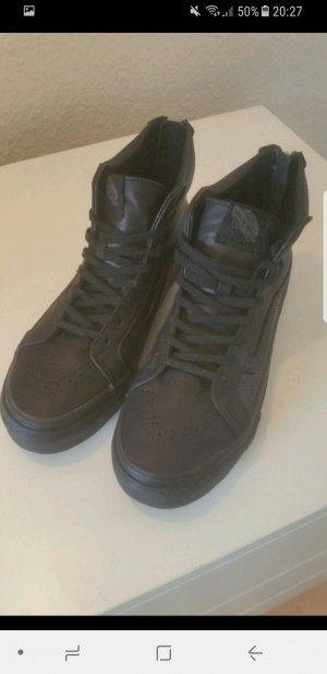 Schwarze Leder Vans (Neu!)