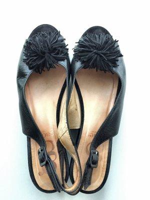 Gadea Plateauzool sandalen zwart Leer