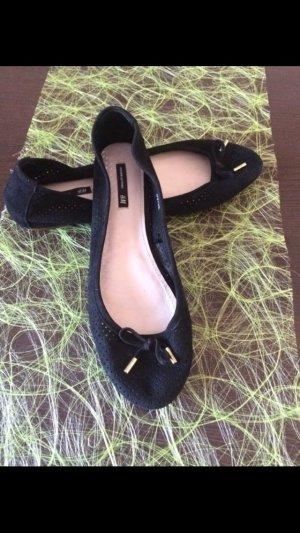 Schwarze Lederballerinas von H&M