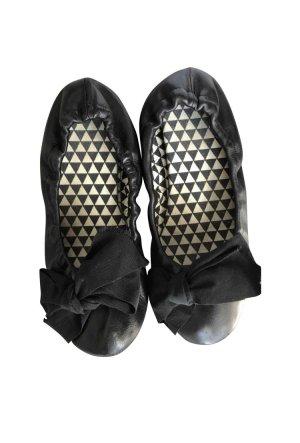 Schwarze Lederballerinas von Isabel Marant