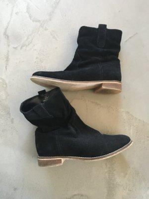 Schwarze Lederbooties // Stiefeletten // Asos