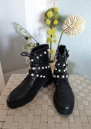Zara Low boot noir-argenté cuir