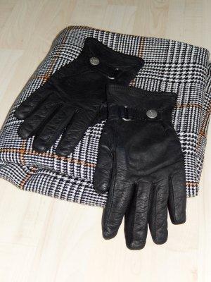 Schwarze Lederhandschuhe von Esprit