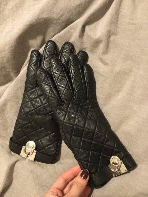 Schwarze Lederhandschuhe von Michael Kors