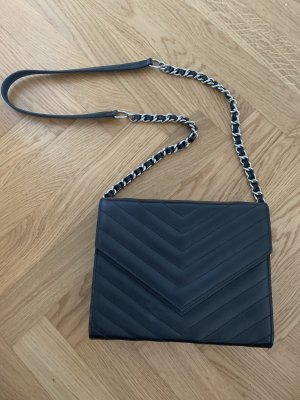 Schwarze Lederhandtasche Umhängetasche