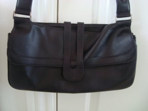 schwarze Lederhandtasche von Selected Femme