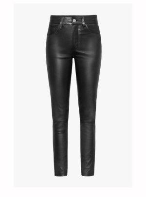 Anine Bing Pantalone in pelle nero Pelle