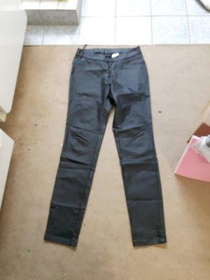 schwarze Lederhose gr.36