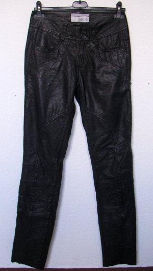 Schwarze Lederhose, Lamm-Nappaleder von heine
