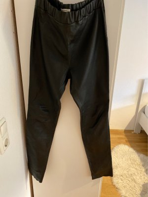 Rena Marx Leather Trousers black