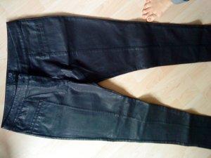 schwarze Lederhose von Denim &co 42